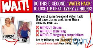 5 second water hack for weight loss
